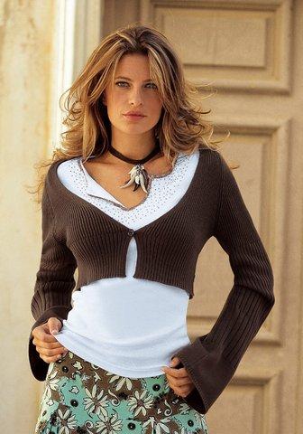 вязаное болеро для женщин